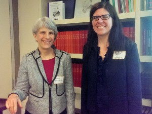 Paula England, ASA President and New York University, with Johanna Bockman, DCSS President from George Mason University